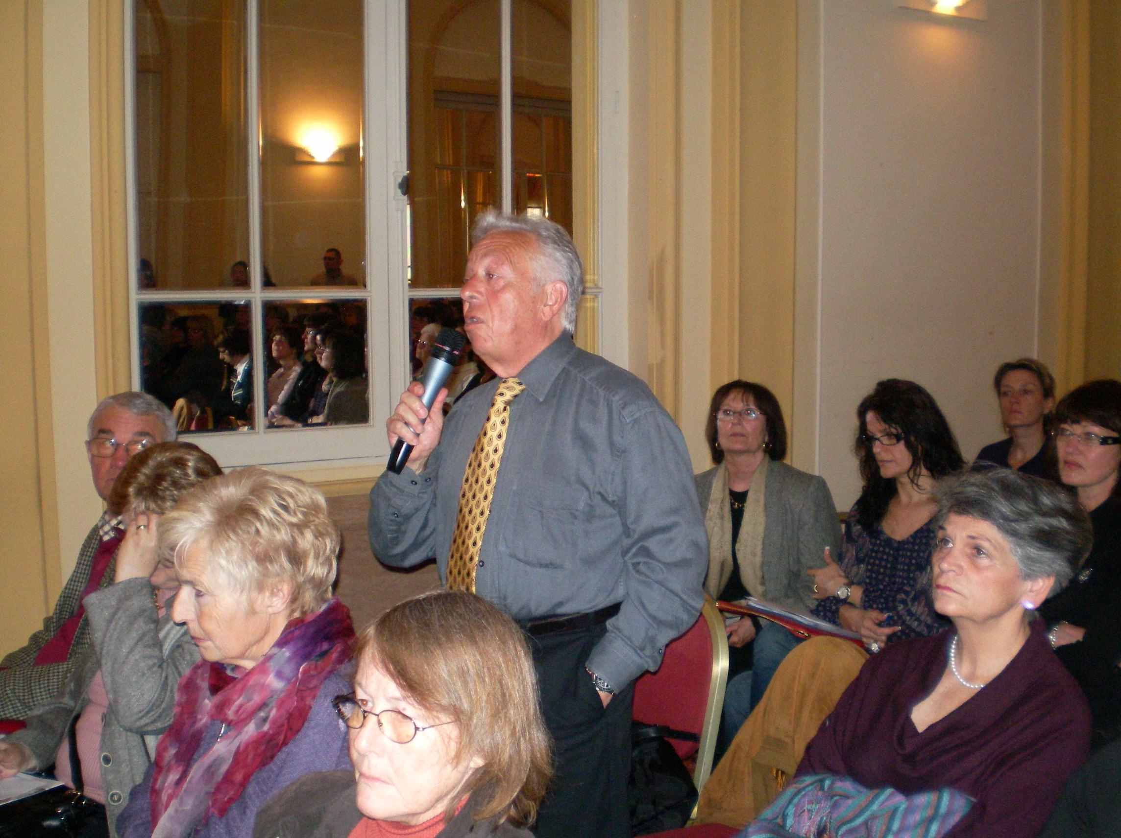 Question de Roger Roche, past président d'ACS