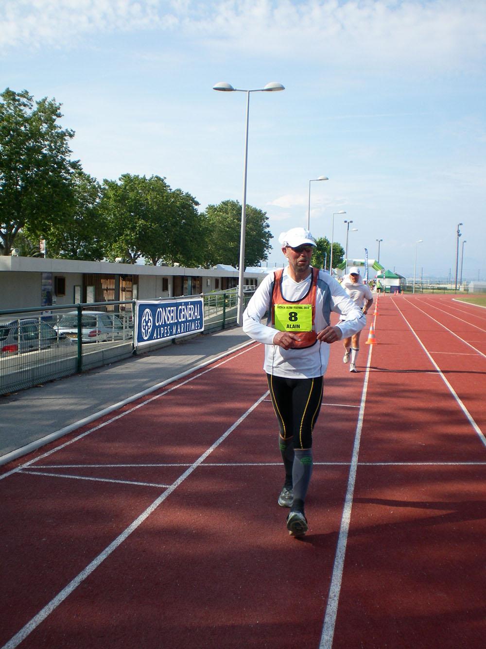 Alain = 8,5 Km/h