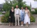 Alain avec son épouse et ses filles