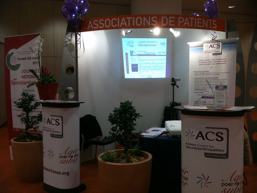 Le stand d'ACS, un grand succès