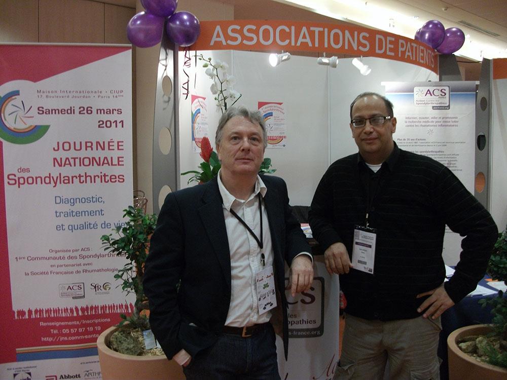 Notre ami le Dr Reda Kachroud (à droite)