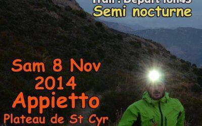 Trail en Corse – 8 novembre 2014 au profit de la spondyloarthrite