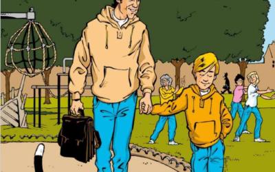 Une bande dessinée pour expliquer la spondyloarthrite à ses enfants.